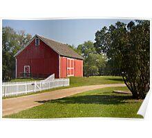 Traditional American barn Poster