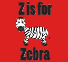 Z Is For Zebra Baby Tee