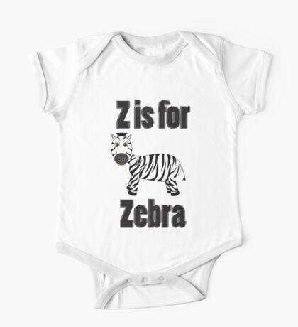 Z Is For Zebra One Piece - Short Sleeve