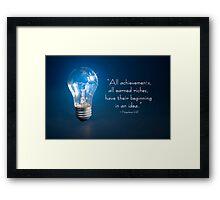 IDEAS! Framed Print