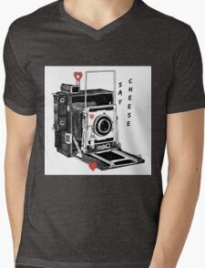 Say Cheese Mens V-Neck T-Shirt