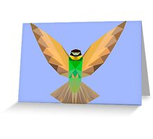 Flying bird - low poly Greeting Card