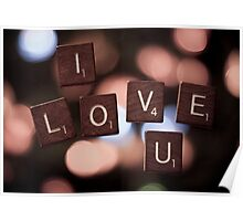 I Love U Poster