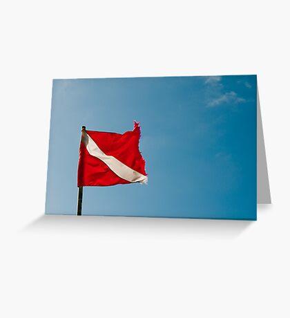 Diver Flag Greeting Card