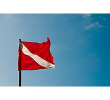 Diver Flag Photographic Print