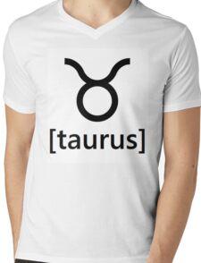 taurus Mens V-Neck T-Shirt