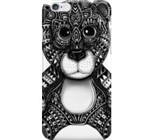 Teddy bear black and white ornate illustration iPhone Case/Skin
