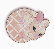 Introvert Kitten - patterned cat illustration Kids Clothes