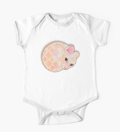 Introvert Kitten - patterned cat illustration One Piece - Short Sleeve