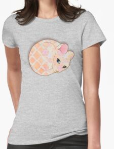 Introvert Kitten - patterned cat illustration Womens Fitted T-Shirt