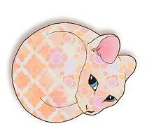 Introvert Kitten - patterned cat illustration by Perrin Le Feuvre