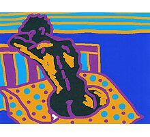 Abstract nude, seated on a cushion. Photographic Print