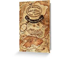 Marauders Map Greeting Card