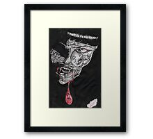 Blood Lust the Face of Fear Framed Print