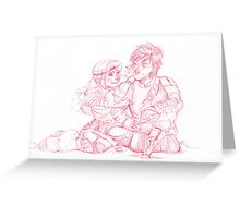 Astrid and Hiccup Greeting Card