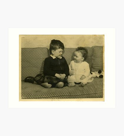 Brother and Sister, 1956 Art Print