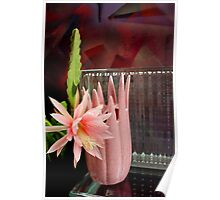 Ribbed Vase Reflected Poster