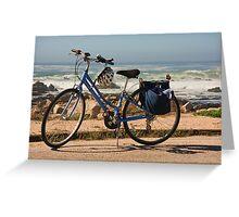 Bike at the beach Greeting Card