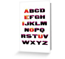 Abcd Greeting Card