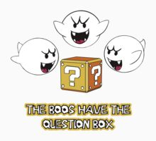 The Boos have the question box One Piece - Short Sleeve