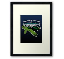 Discworld - welcome to my world Framed Print