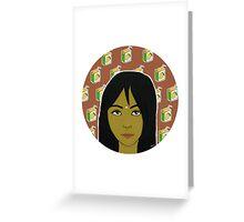 Bindi ft. Mango Juice Greeting Card