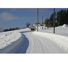 Rural road in winter Photographic Print