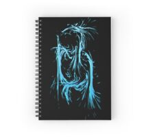 Splashed Letters - B Spiral Notebook