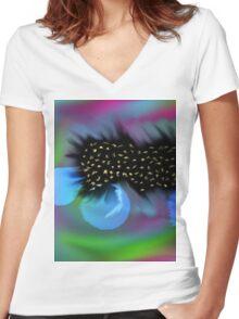 sprite world Women's Fitted V-Neck T-Shirt