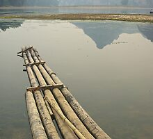 Drift Away - Raft,  Near Yangshuo, China by AlliD