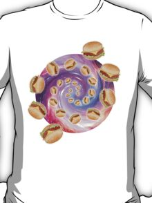 Spiral Galaxy of Burgers T-Shirt