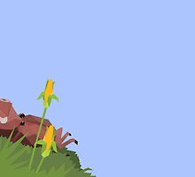 Pumba lying in the grass - low poly by maismu