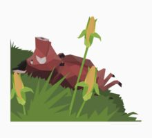 Pumba lying in the grass - low poly Kids Clothes
