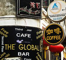 Go Global - Cafe Signs, Yangshuo by AlliD