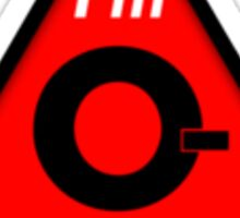 O- blood type information / stay safe, I suggest application to helmets Sticker