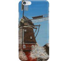 Windmill In Winter iPhone Case/Skin