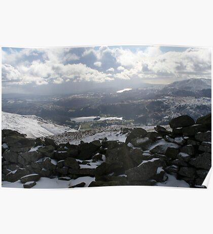 Lake Windermere from Seat Sandal Poster