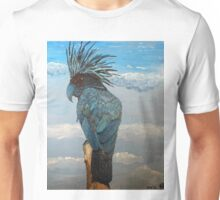 Cockatoo--Midnight Blue in the Clouds Unisex T-Shirt