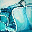 Scooter Abstract - acrylic on canvas 2010 by ChristineBetts