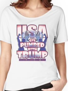 USA GET PUMPED WITH TRUMP Women's Relaxed Fit T-Shirt
