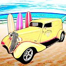 Surf Shop Sedan Delivery Rod Padre Island by ChasSinklier