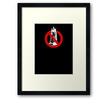 WHO you gonna call? Black Framed Print