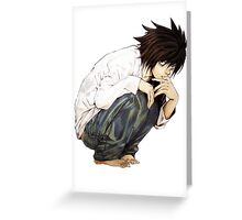 L - Death Note Greeting Card