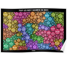 Top US Boy Names in 2011 - Black Poster