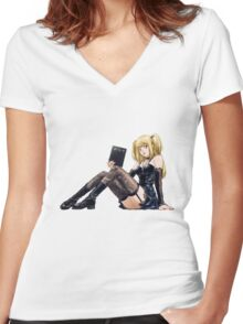 Misa - Death Note Women's Fitted V-Neck T-Shirt