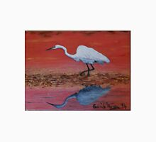 White Egret Wading In The Sunset Unisex T-Shirt