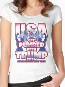 GET PUMPED WITH TRUMP 2016 Women's Fitted Scoop T-Shirt