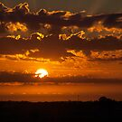Sunset at Tailem Bend SA by Scott Pounsett