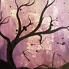 a purple tree silhoutte  by Kevin Phillips