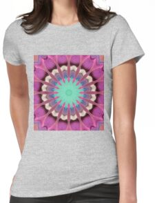 Pink abstract Womens Fitted T-Shirt